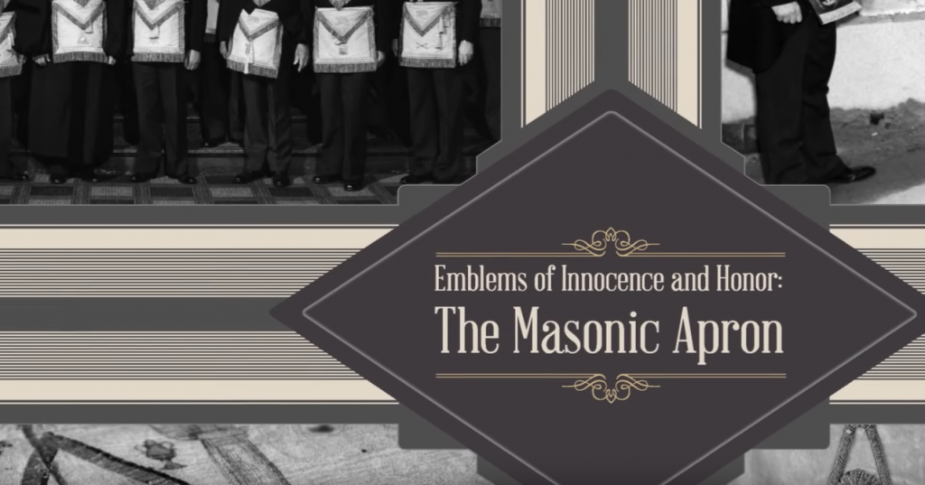 emblems of innocence and honor the masonic apron